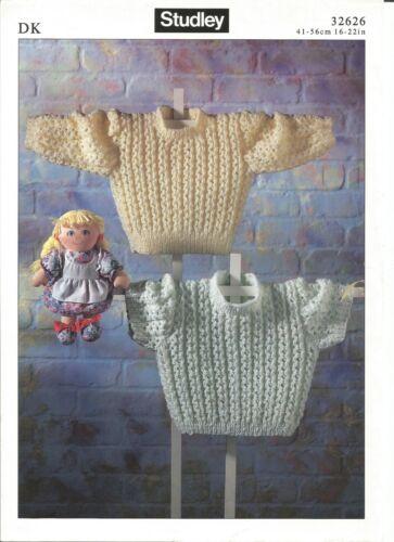 Precioso Doble Tejer patrón para Bebé//Niño suéteres de 16-22 pulgadas