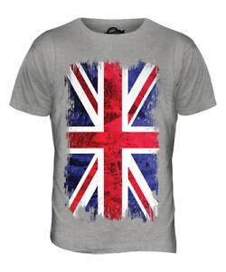 686e2823 UNION JACK GRUNGE FLAG MENS T-SHIRT TEE TOP UK GB GREAT BRITAIN ...
