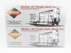 HO-Life-Like-Proto-2000-21205-NP-Northern-Pacific-40-039-Stock-Car-4-Pack-SEALED