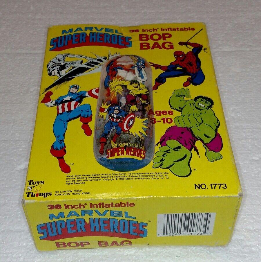 VINTAGE MARVEL SUPER HEROES BOP BAG 36  BRAND NEW