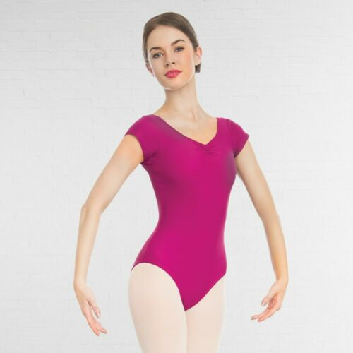 1st Position Cap Sleeved Ruched Ballet Dance Leotard