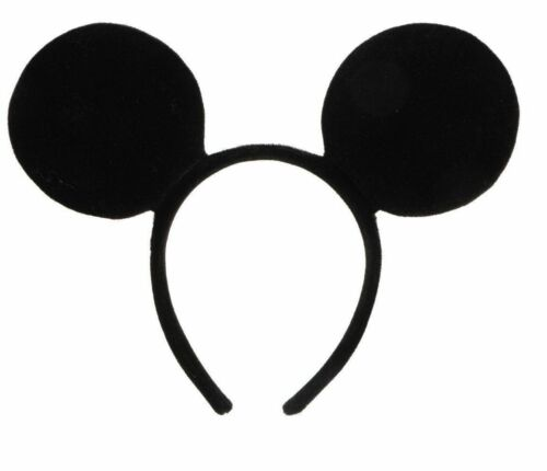 BLACK MOUSE HEADBAND Fancy Dress Alice Band Bow Ladies Mens Girls Boys Party
