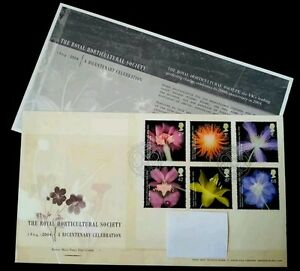 Britain The Royal Horticulture Society 2004 Flower Flora Plant (stamp FDC)