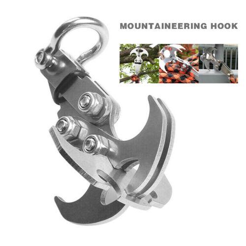 Gravity Grappling Hook Outdoor Climbing Claw Survival Carabiner Tools Survival