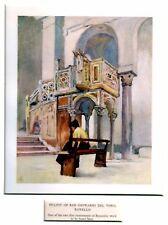 Ravello: Púlpito Iglesia San Juan del Toro. Amalfi Costa. Salerno.1904
