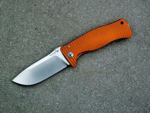 LIONSTEEL SR-1 A Arancio Klappmesser Taschenmesser Orange Aluminium D2 Stahl neu