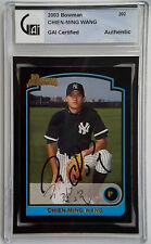 2003 Bowman CHIEN-MING WANG Auto Yankees Rookie RC Rare GAI Slabbed
