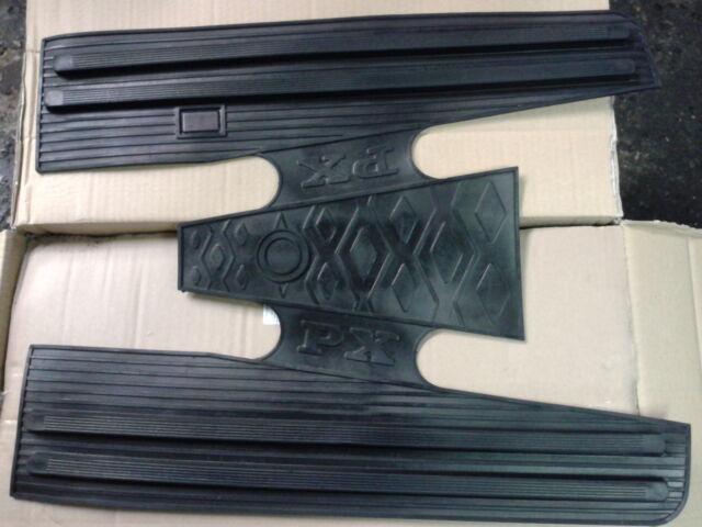 Vespa PX Black Rubber Floor Mat Italian Made P200E PX125 LML