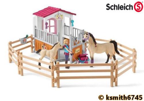 Schleich Cavallo Stalla Set con CAVALLI /& Sposo in plastica giocattolo fattoria animale da compagnia stabile