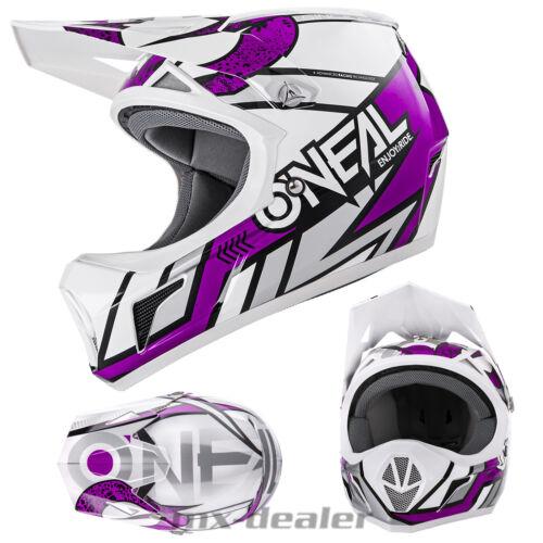 ONeal SONUS Strike weiss lila DH BMX mountainbike MTB Helm freeride XS S M L