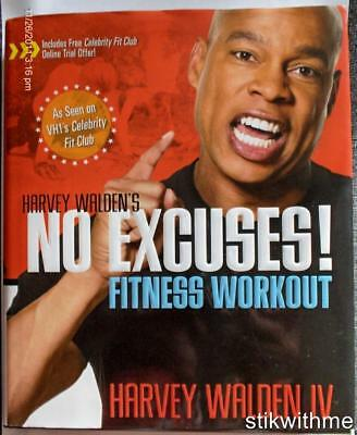NEW Harvey Walden's No Excuses! Fitness Workout  HC BOOK - Harvey Walden IV