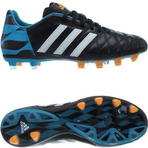 free shipping 4fdf5 291f4 Details about Adidas 11pro FG Profi soccer cleats for men blue or black  smooth leather NEW