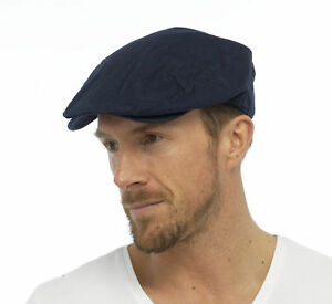 Tom Franks Men s Cotton Linen Lightweight Summer Vintage Style Flat ... b1d95198836