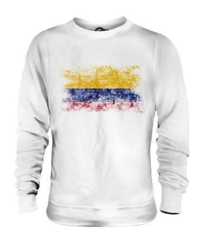 Colombie Drapeau Délavé Unisexe Pull Colombien Maillot de Football Cadeau