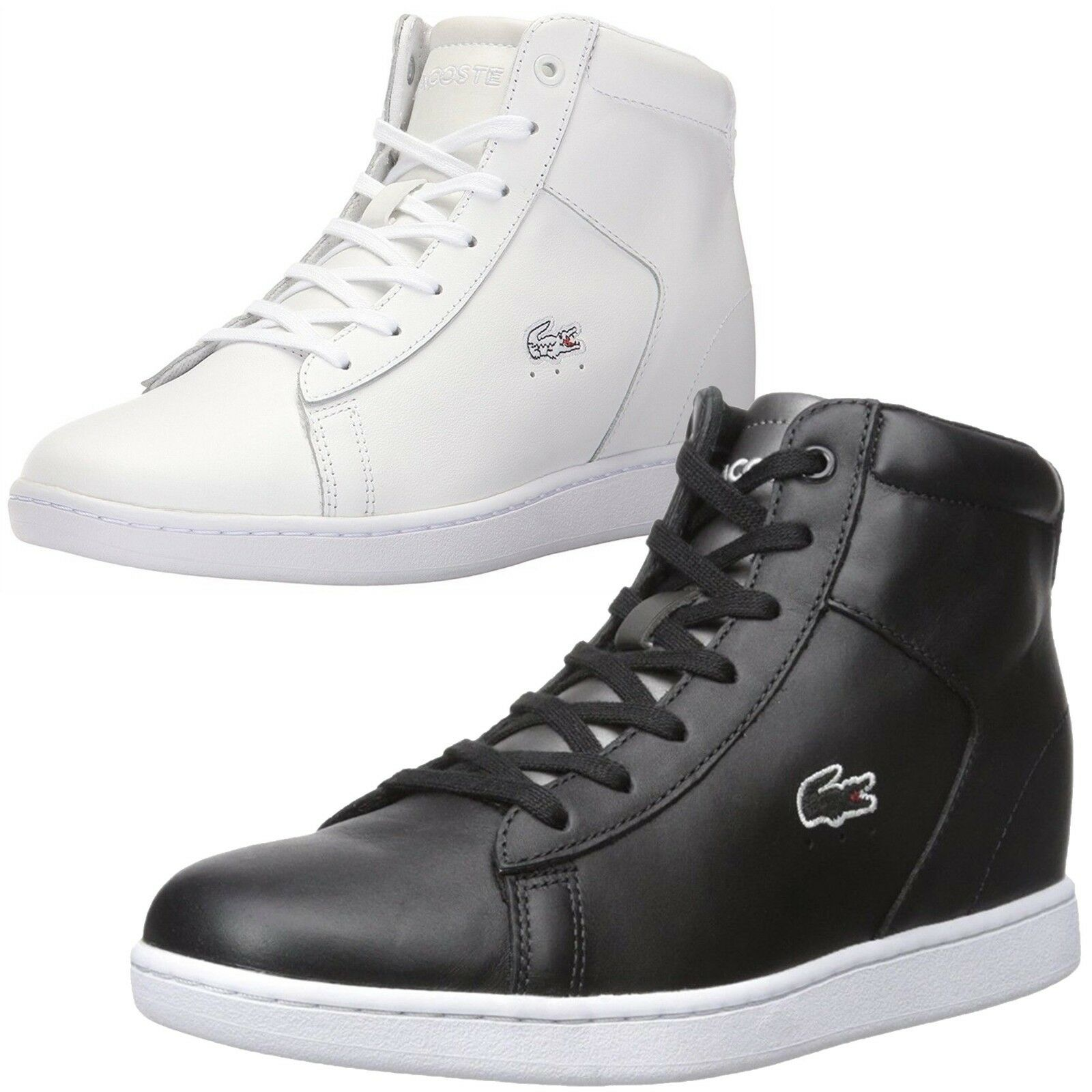 2a9005179b11 NEW Lacoste Women Athletic Carnaby Evo Wedge 317 317 317 Spw High Top  Fashion Sneakers 11603e