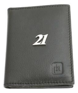 21st Birthday Bifold Card Holder Leather Black Wallet RFID Safe 462