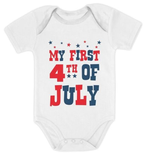 My First 4th of July Bodysuit USA Independence Day Gift Baby Bodysuit American