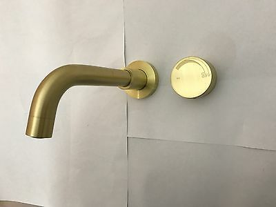 new Shower Bath satin matt Burnished Gold Matt Black Brass wall mixer tap faucet