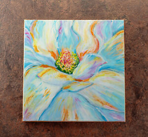 Original-Abstract-Flowers-Contemporary-Acrylic-Painting-on-Canvas-Floral-Art