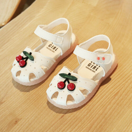 Toddler Infant Kids Baby Girls Casual Cherry Sandal Princess Closed Toe Shoes US