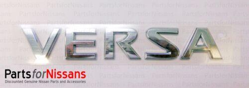 Genuine Nissan 2007-2012 Versa HATCBACK Rear Emblem Nameplate Badge NEW OEM