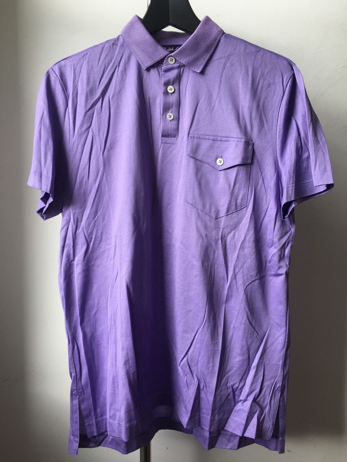 Very Cool Ralph Lauren Purple Label super fine soft cotton polo t Shirt S