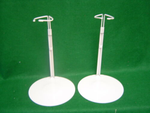 Doll Stands 2 two Gray Metal stands 12-20 inch Dolls and Teddy Bears