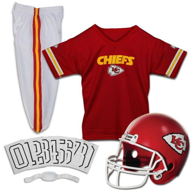 d2630fa8 Kansas City Chiefs Uniform Set Youth NFL Football Jersey Helmet Costume  Medium
