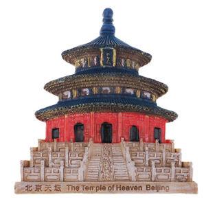 China-Peking-Harz-3D-Kuehlschrankmagnete-Andenken-touristischer-Himmelstempel