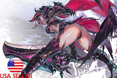 Monster Hunter Sexy Girl 36 X 24 Large Wall Poster Print Fan Art