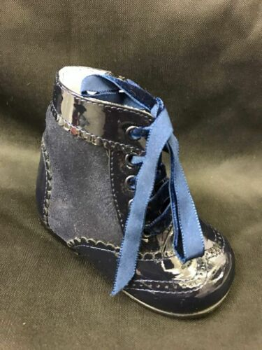 BRAND NEW BOXED GIRLS NAVY SPANISH LEON BOOTS WITH LACES