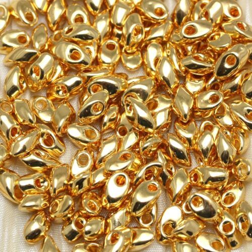 10grams **Pick Your Color ** PRECIOUS METAL plated Long Magatama Seed Beads