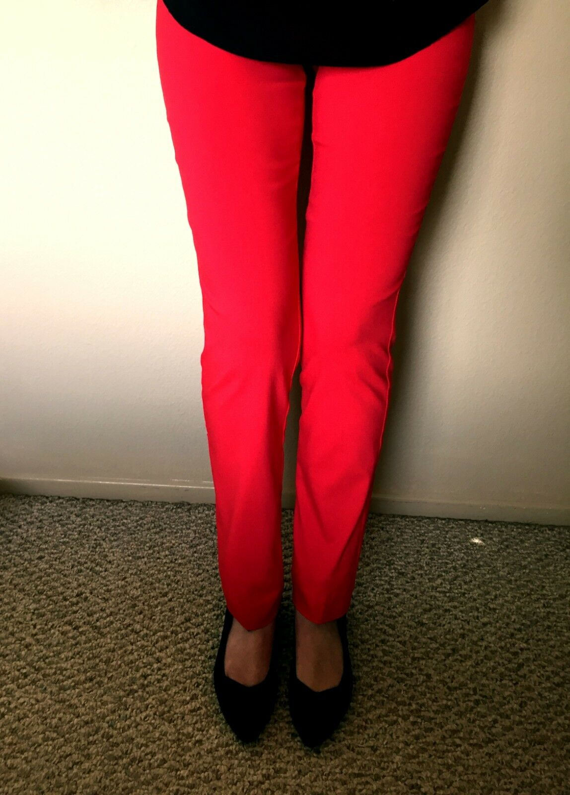 KRAZY LARRY  P-237 WOMEN'S SIZE 14 STRETCH RED PULL ON PANTS NEW