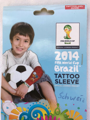 Tattoo Ärmel Schweiz Fussball WM EM Tatoo Sleeve Fanartikel FIFA Kinder