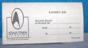 star trek checkbook log books star trek 30 years ebay