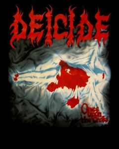 DEICIDE-ONCE-UPON-THE-CROSS-CD-COVER-Official-SHIRT-XL-new