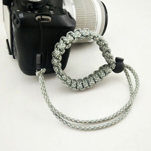 Gray-Color-Braided-Adjustable-Camera-Wrist-Strap-Bracelet-For-Camera-S