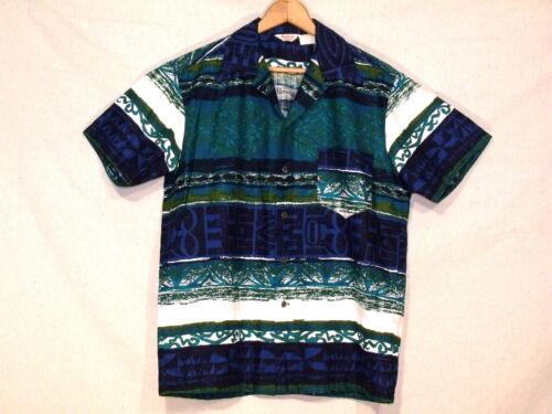 B31 ShirtMen's Hawaiian Fantastic Kamehameha Vtg Hawaii Teal M Blue Of trdosCQBhx