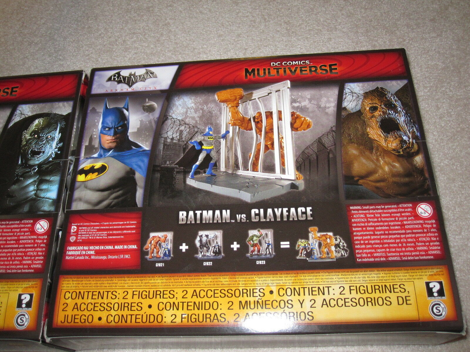 DC Comics Multiverse Batman vs Solomon Grundy + Clayface Figures Figures Figures Set of 2-NIB 5918c5