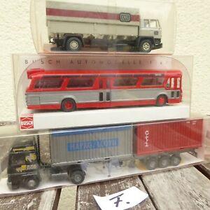 ROSKOPF-Busch-Wiking-la-raccolta-2-PEZZI-CAMION-bus-US-Stati-Uniti-come-nuovo-la-raccolta-F