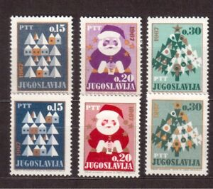 YUGOSLAVIA-1966-SET-MINT-VF-NH-842-47-CHRISTMAS-C80