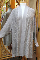 Dairi Moroccan Jacket Open Front Over-stitched Lapels And Cuffs One Size 776