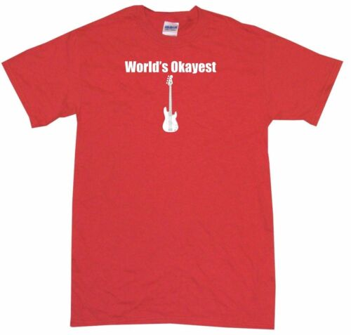 World/'s Okayest Bass Guitar Logo Kids Tee Shirt Boys Girls Unisex 2T-XL