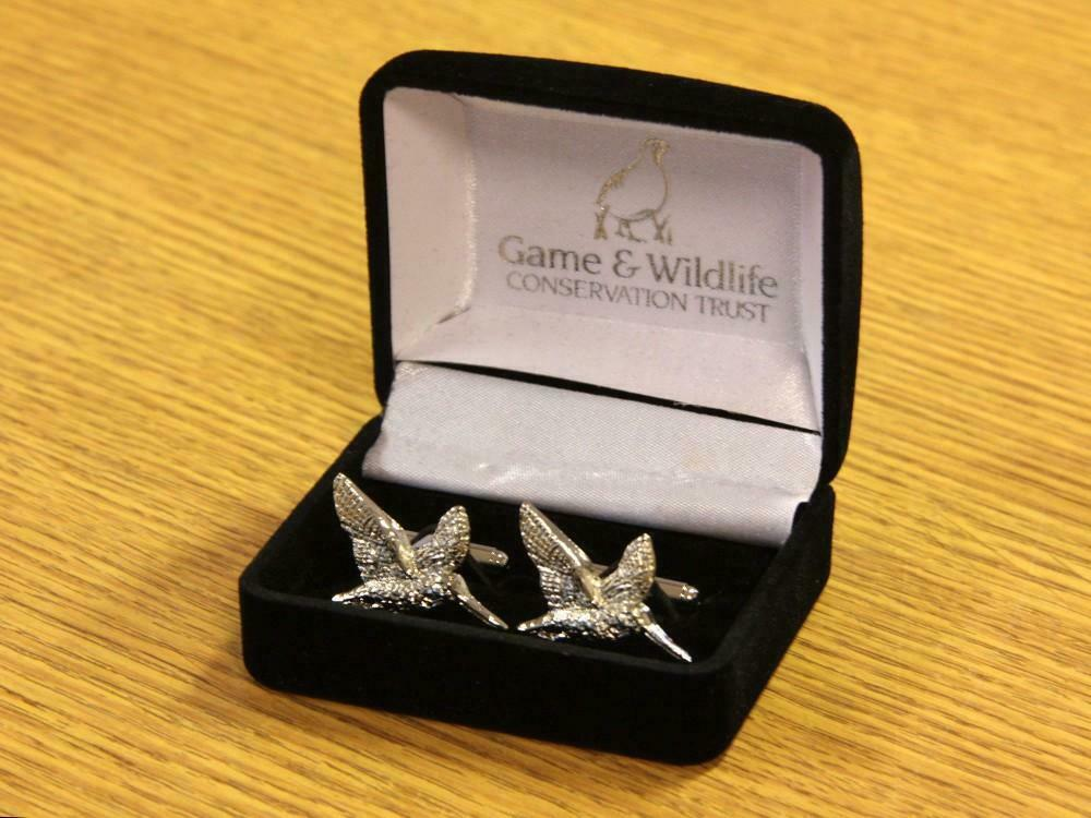 GWCT Woodcock Cufflinks - Game & Wildlife Conservation Trust
