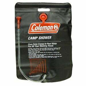 Coleman-Shower-Bag-5-Gallon-PVC-Solar-Heated-Water-Camp-Shower-On-Off-Valve