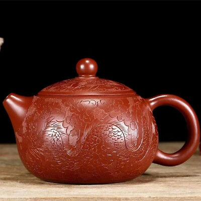 handmade tea pot marked real yixing zisha dahongpao xishi pot original ore pots