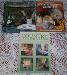 3-BOOKS-COUNTRY-DECORATING-CLASSIC-CRAFTS-amp-AUSTRALIAN-COUNTRY-WOMEN-039-S-CRAFTS
