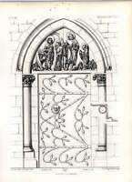 Gothic Magdeburgh Church Elevation Of Cloister Doorway