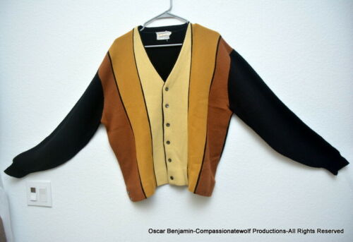 Campus Cardigan Vintage Mid-50's Men's Sweater  Ge