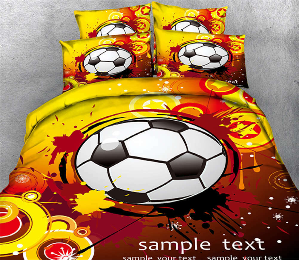 Noteworthy Soccer 3D Printing Duvet Quilt Doona Covers Pillow Case Bedding Sets